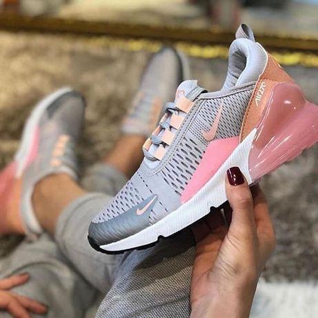 Adidasi dama unisex Nike Air Max 27c 270 roz, gri, alb, negru, turcoaz