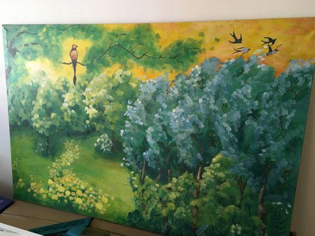 Tablou pictat panza 193x130cm