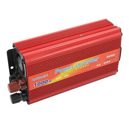 Invertor auto tensiune 24V / 12V-220V putere 1000 W + cabluri