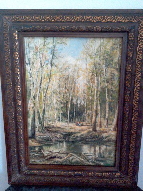 Tablou pictură veche, semnat Verona - 72 x 57 cm - cu ramă