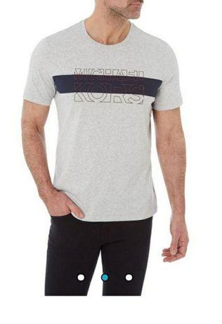 Мъжка тениска MICHAEL KORS с къс ръкав ,размер ХХL.НОВА!Оригинална.