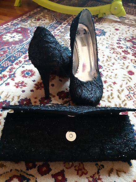 Дамски официални обувки и чантичка
