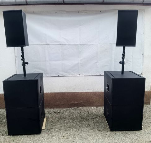 Sistem 1:1 copiat dupa D&B Audiotechnik Q sub si Q1