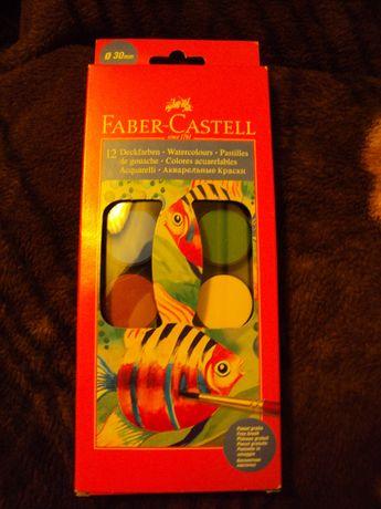 Акварелни бои (12 цвята) - Faber Castell са с размер на таблетката 30