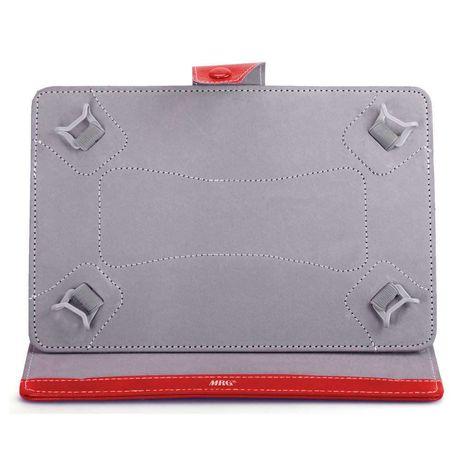 Husa tableta MRG M568, 10 inch, Tip mapa, Prindere 4 cleme, Rosu C568