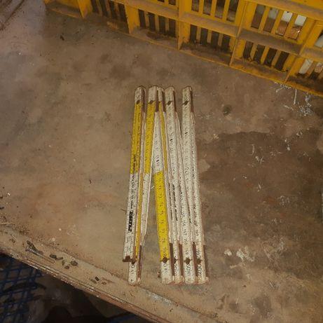 Дървен метър-2 метра-антика