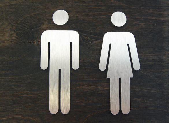Табелки за Тоалетни. Табела за Баня, Надписи за Тоалетна.