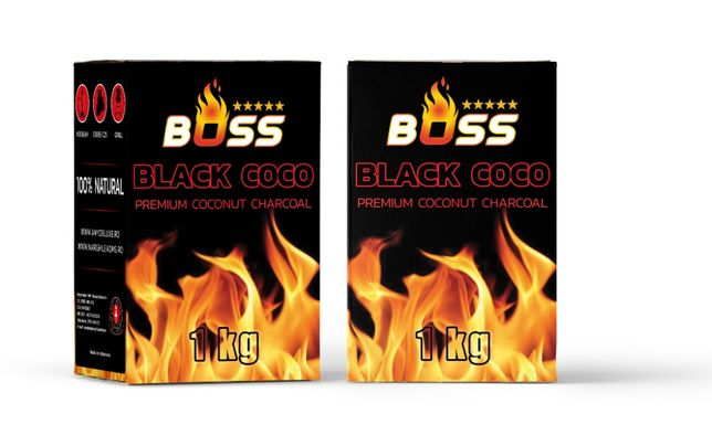 Carbuni Narghilea Natural Black Coco BOSS C25 1KG 72 buc (Marima L)