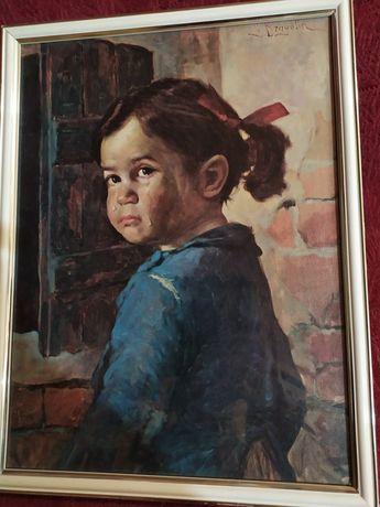 Уникална  картина на плачещо момиче на Бруно Амадио.