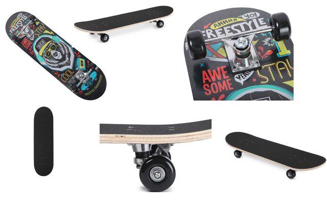новый Стильный скейтборд черный скейт снизу рисунок новый скейтбоард