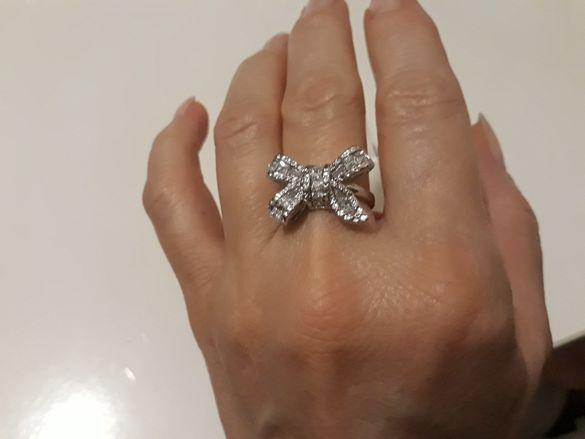 Дамски пръстен нов размер 5 панделка