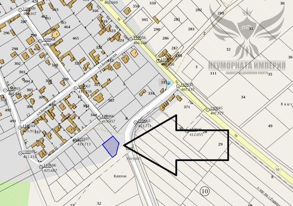 Продавам урбанизиран имот 588кв.м. в село Червен общ.Асеновград