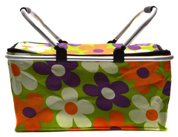 Хладилна термо чанта с дръжки - тип кошница за пикник 42 х 23 х 21 см.