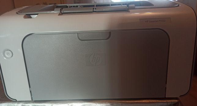 Принтер черно белый. Hp laser Jet P1102.