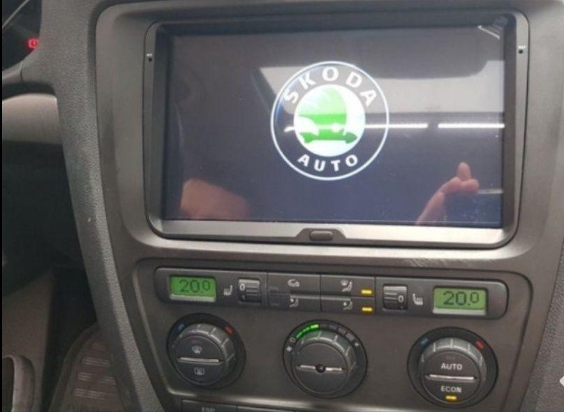 Rama adaptoare navigatie Skoda Octavia 2 trim radio cd navi RNS 510 Craiova - imagine 1