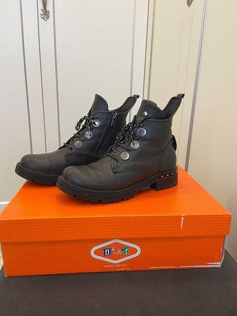 Ботинки кожаные демисезонные для девочек, размер 35, фирма TifLant