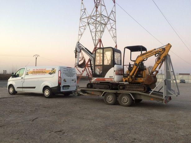 Excavator Bobcat Canalizare apa cablu fibra gaze miniexcavator