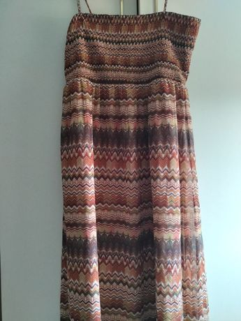 Дамска лятна дълга рокля, немачкаема материя, L размер