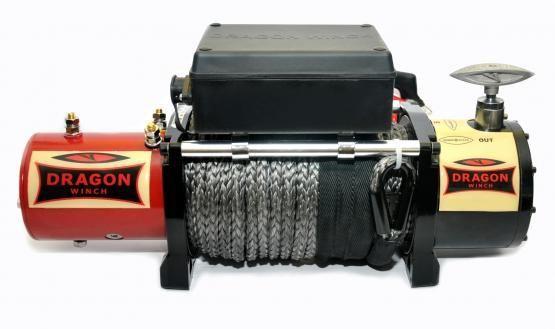 Troliu DragonWinch 13000 HD STcablu sintetic 5.,9T