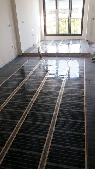 Монтаж на подово отопление инфрачервено под ламинат и кабелно под тера