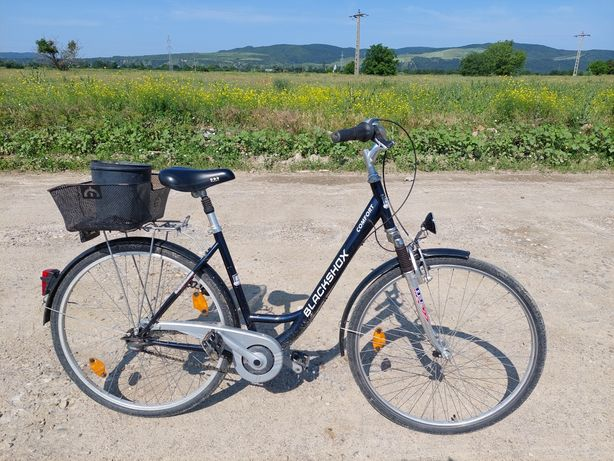 Bicicleta cu 7 viteze integrate în butuc.