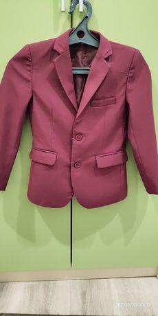 Пиджак цвет бордовый