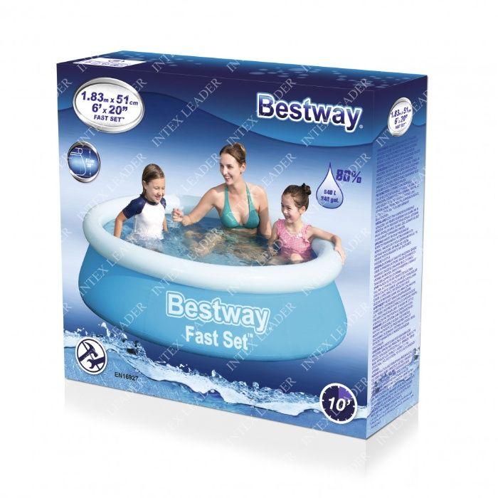 Bestway 57392 Бассейн надувной Fast Set, 183 x 51 см Костанай - изображение 1