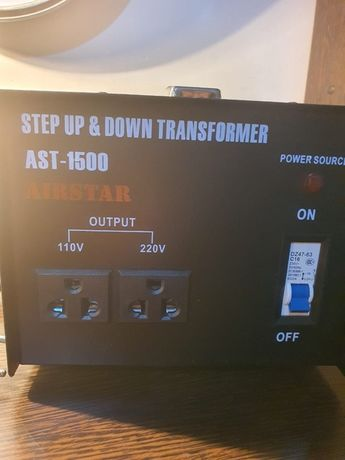 Tрансформатор повышающий и понижающий с220v/240v на 110v/120v 1500w