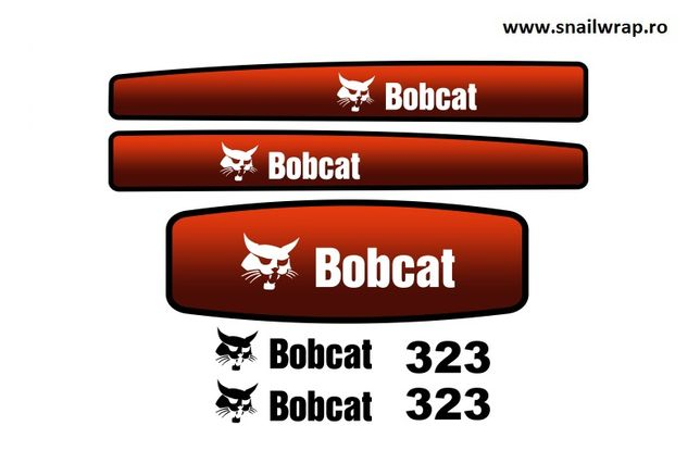 Set stickere autocolante Bobcat 323 / 320 / x320 / 553 / 753 / 337