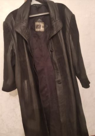 кожаная женское пальто настоящее оригинал 50 - 52 размер Италия