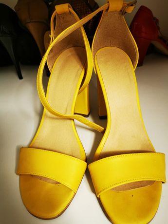 Sandale dama piele mărimea 39 și toc 10 cm