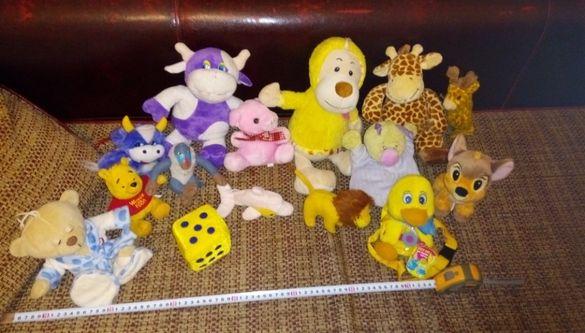 Плюшени играчки - жирафи - мече - еленче - милка крави и др 16бр.