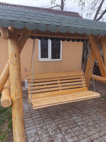 Leagan balansoar gradina lemn masiv