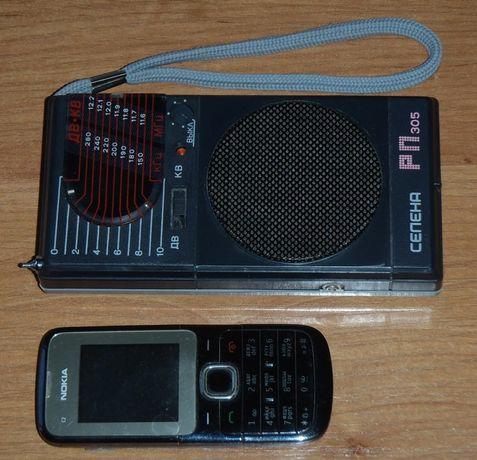 винтажный радио приемник СЕЛЕНА РП305 компактный экономичный