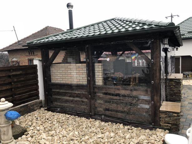Închidere foișor sau terasa cu folie PVC