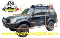 Overfendere TOYOTA LAND CRUISER J90 95 LUNG -Material ABS - 14 cm