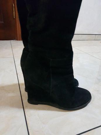 Зимняя обувь из замши