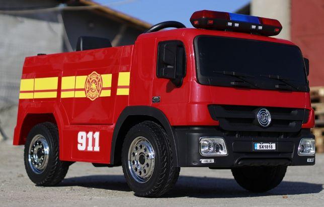 Masinuta electrica de pompieri cu 2x35W 12V si Acceorii Pompier #Red