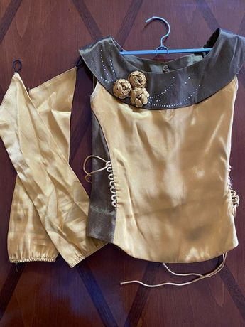 Вечернее платье из атласа для девочки