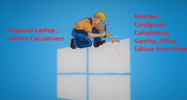 Instalare windows, reparatii laptop , asamblareCalculator , ma deplase