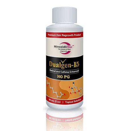 Minoxidil Dualgen 15% fara PG, 1 luna aplicare + Pipeta Inclusa