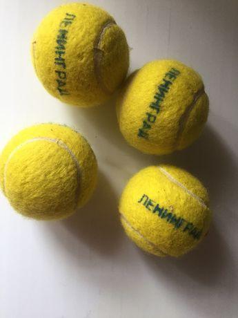 теннисные мячики, в комплекте 4 штуки