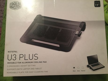 Охлаждение кулер для ноутбука coolermaster u3 plus