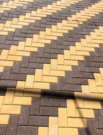 Вибропрессованная брусчатка, тротуарная плитка!