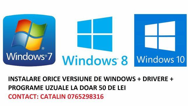 Instalare Windows 7,8,10 +drivere+ programe calculator/laptop Pitesti