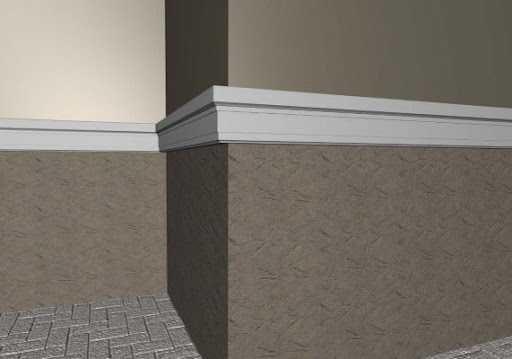 Декор обрамление из пенопласта, межэтажный пояс