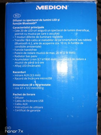 Difuzor cu spectacol de lumini Led și funcție Bluetooth ®