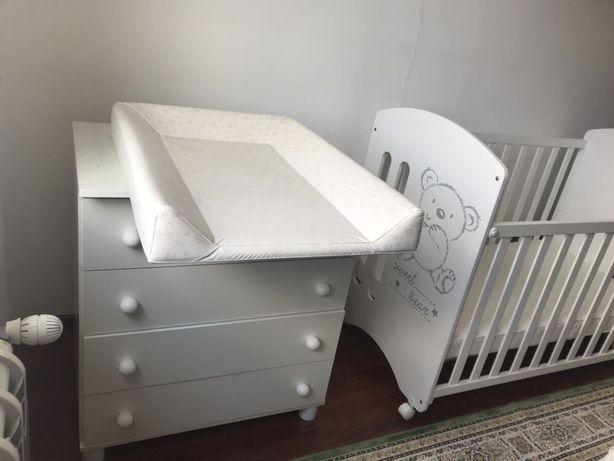 Кроватка+комод с пеленальным столом испанского бренда MICUNA