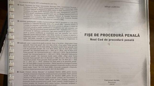 Fise Procedura Penala Udroiu