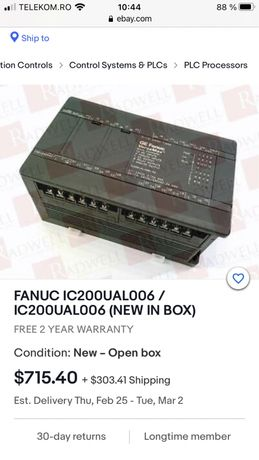 Vand plc Ge Fanuc IC200UAL006